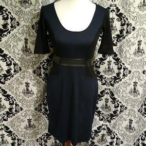 Donna Morgan Navy Knit Dress Size 2